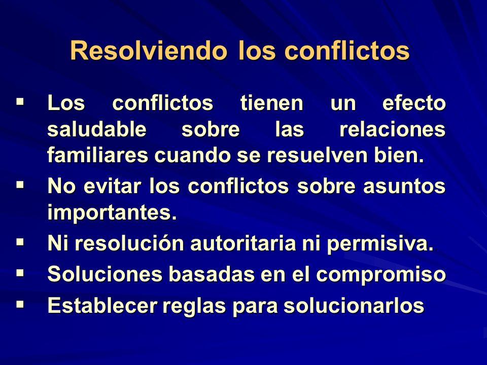Resolviendo los conflictos