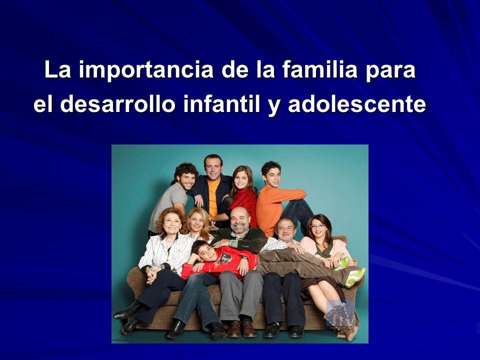 La importancia de la familia para el desarrollo infantil y adolescente