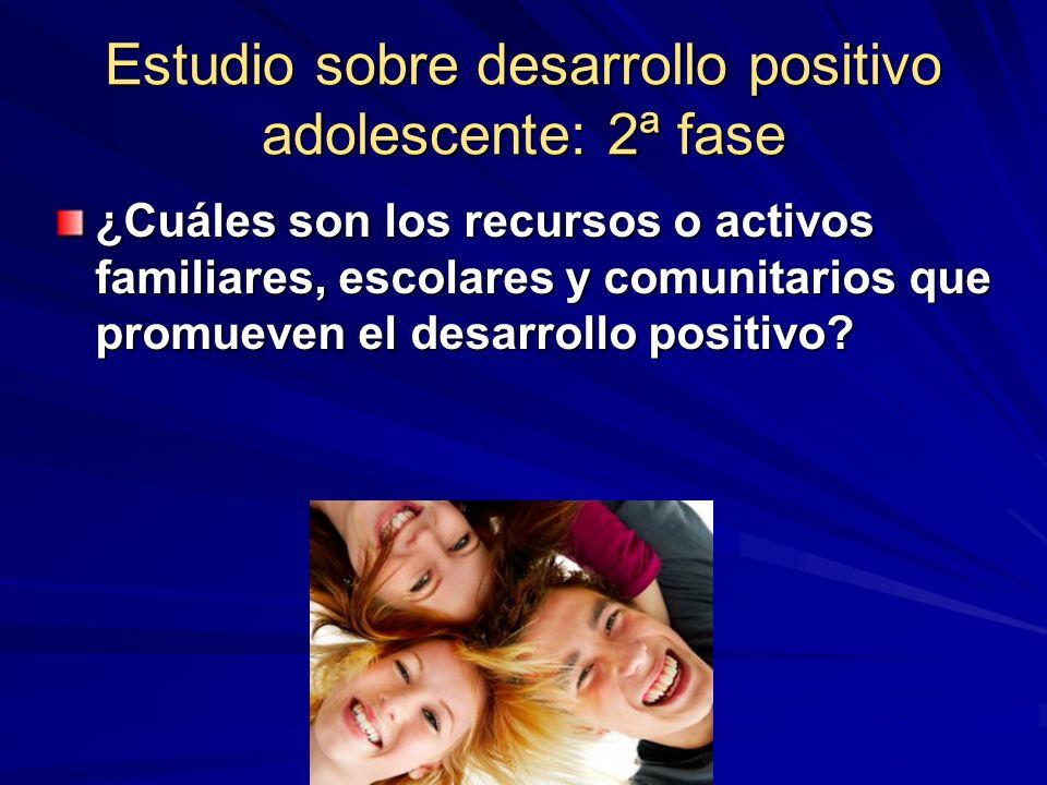 Estudio sobre desarrollo positivo adolescente: 2ª fase