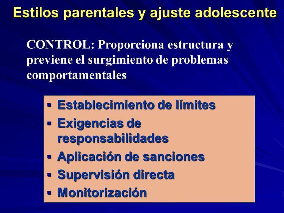 Estilos parentales y ajuste adolescente
