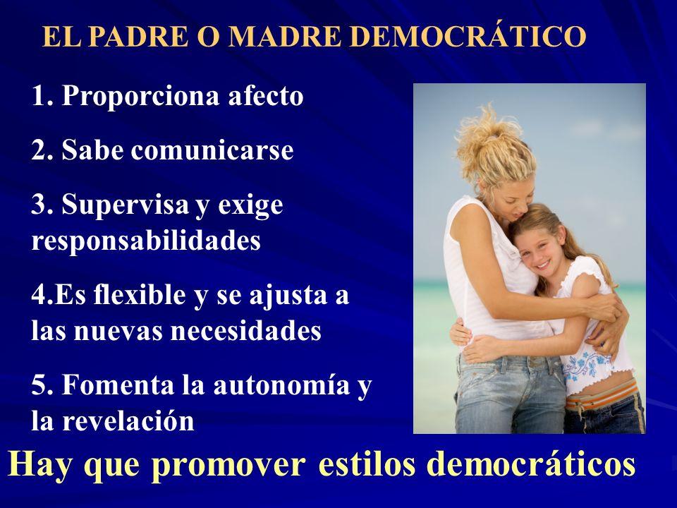 Hay que promover estilos democráticos