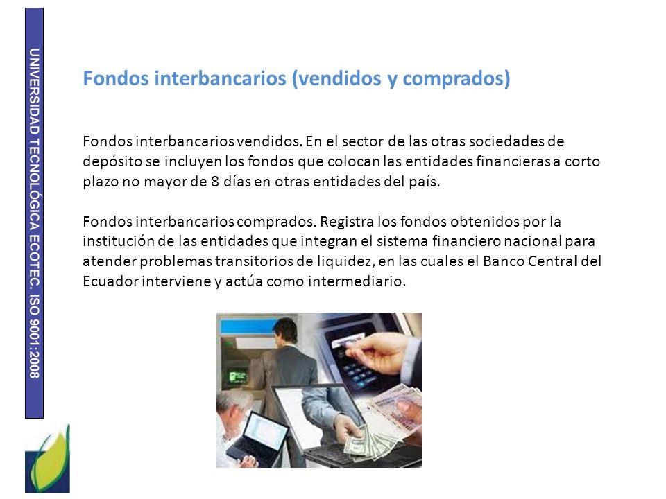 Fondos interbancarios (vendidos y comprados)