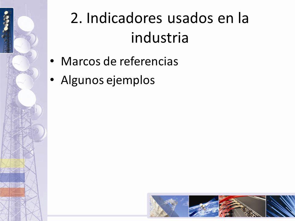 2. Indicadores usados en la industria