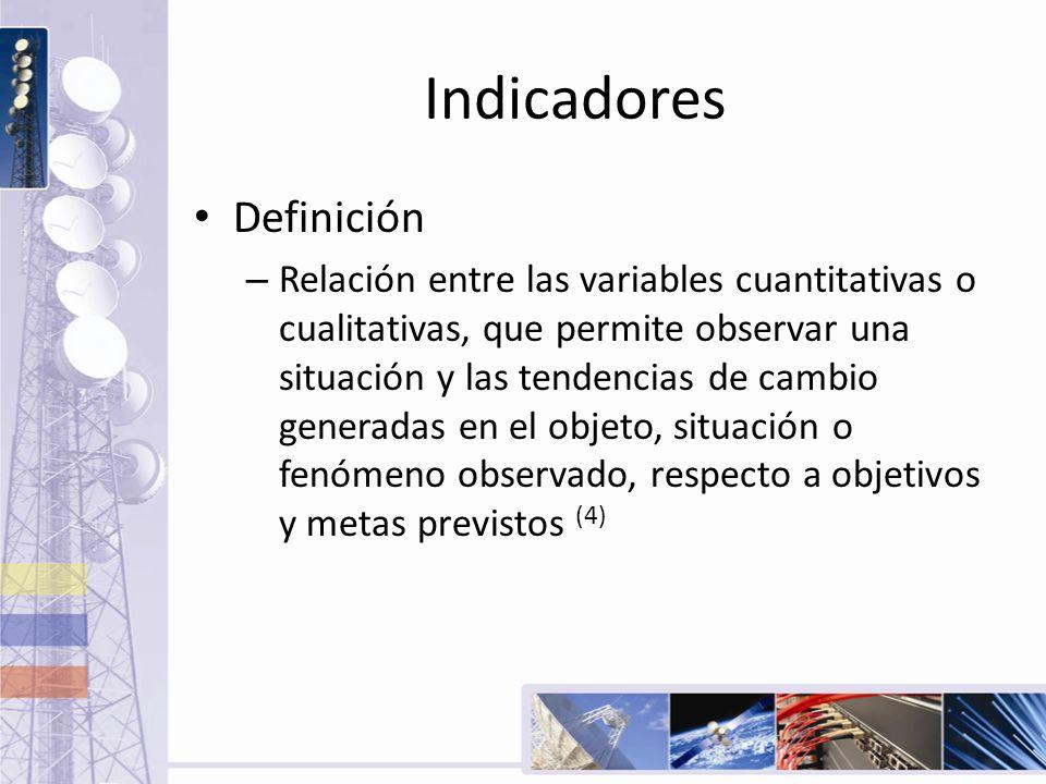 Indicadores Definición