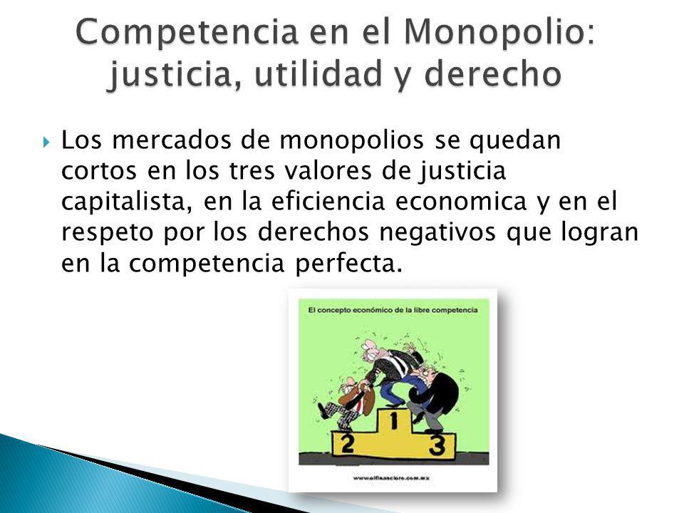 Competencia en el Monopolio: justicia, utilidad y derecho