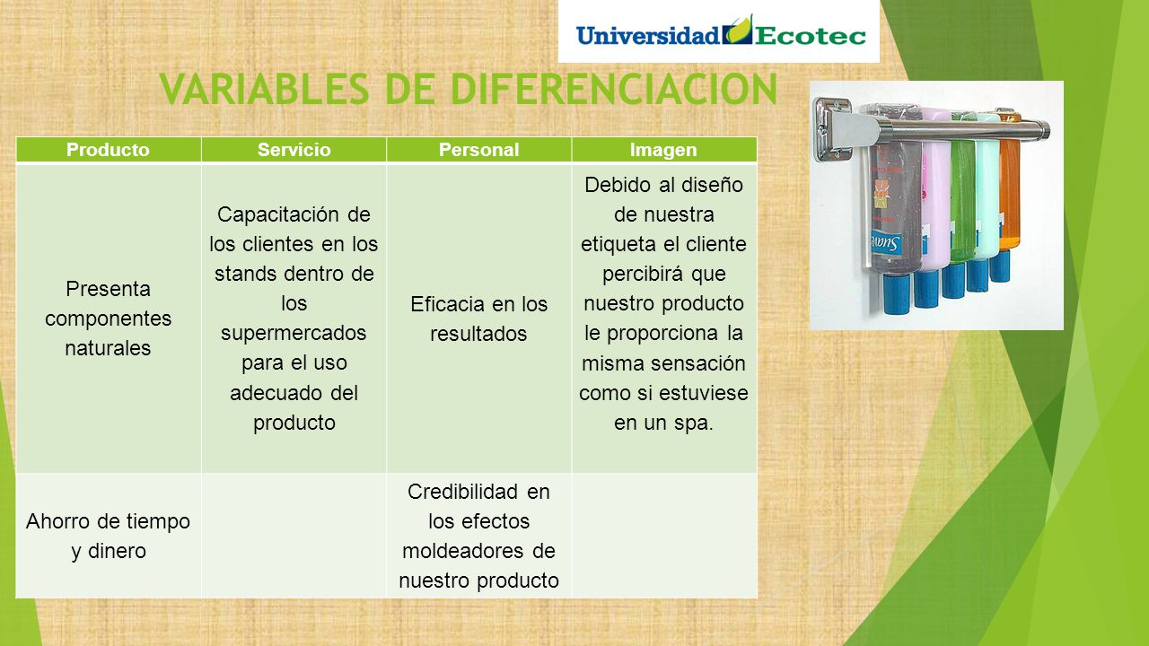VARIABLES DE DIFERENCIACION