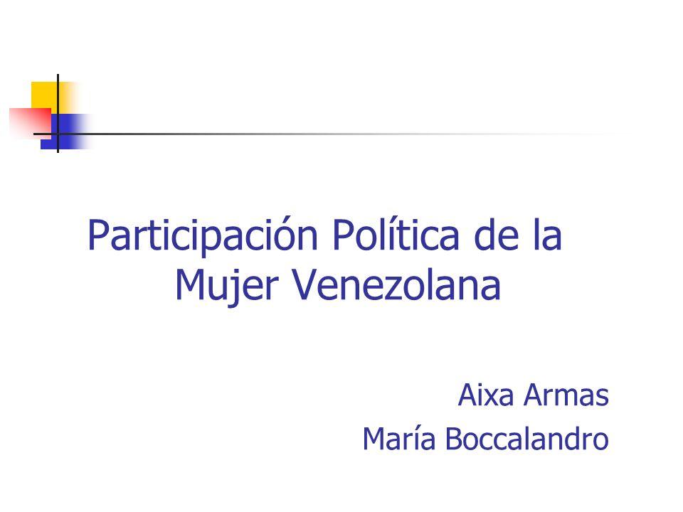 Participación Política de la Mujer Venezolana