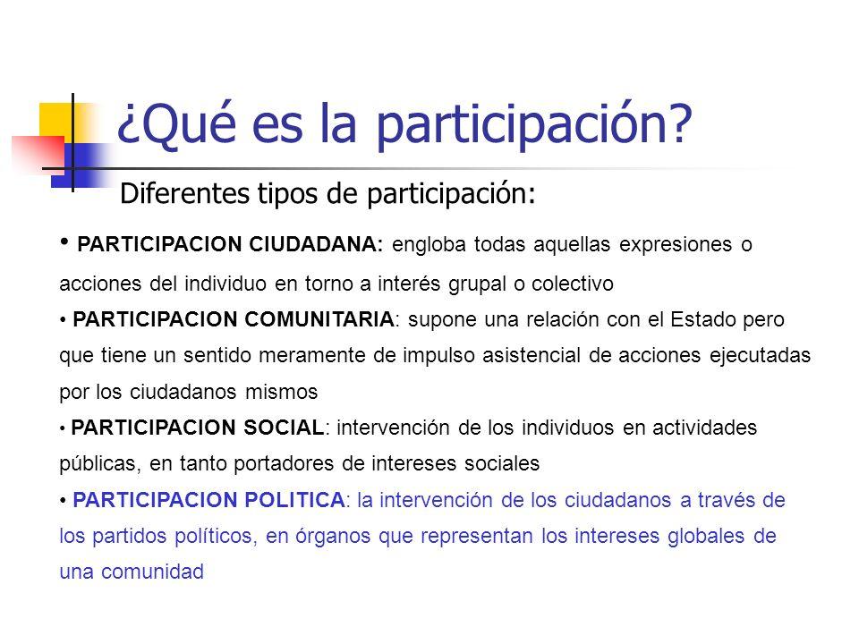 ¿Qué es la participación