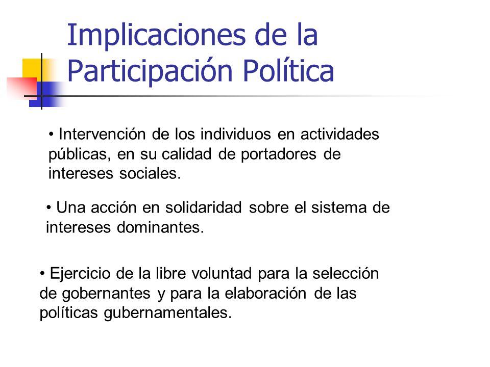 Implicaciones de la Participación Política