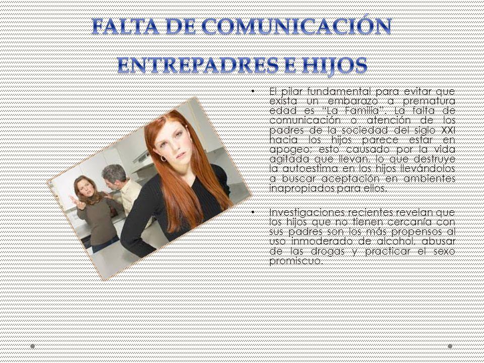 FALTA DE COMUNICACIÓN ENTREPADRES E HIJOS