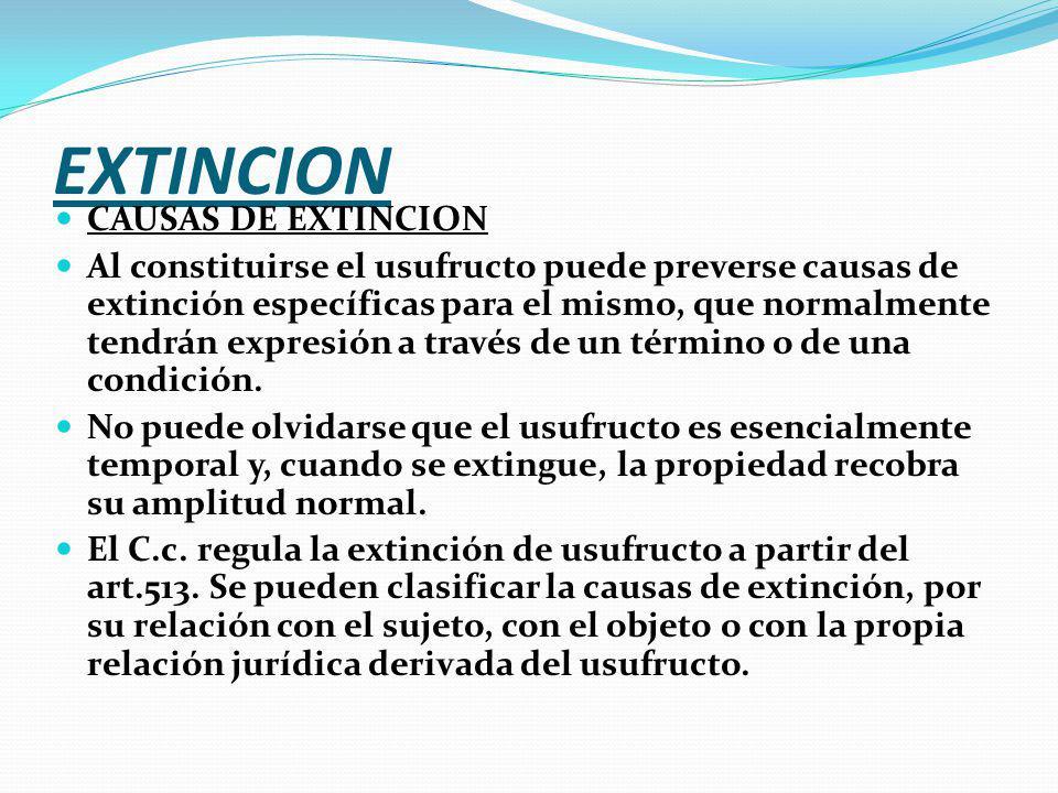 EXTINCION CAUSAS DE EXTINCION
