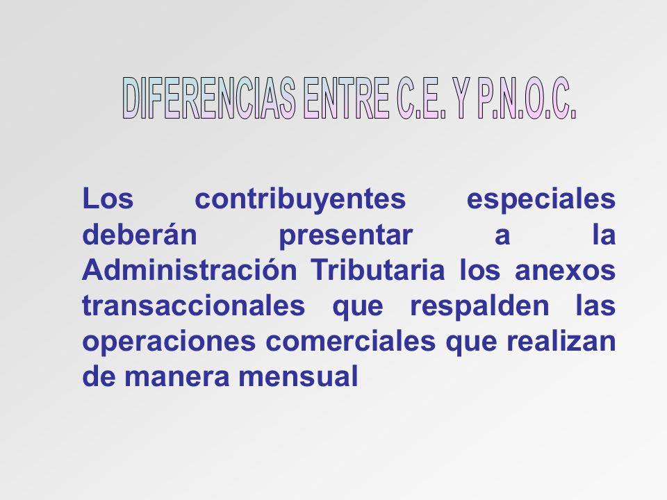 DIFERENCIAS ENTRE C.E. Y P.N.O.C.