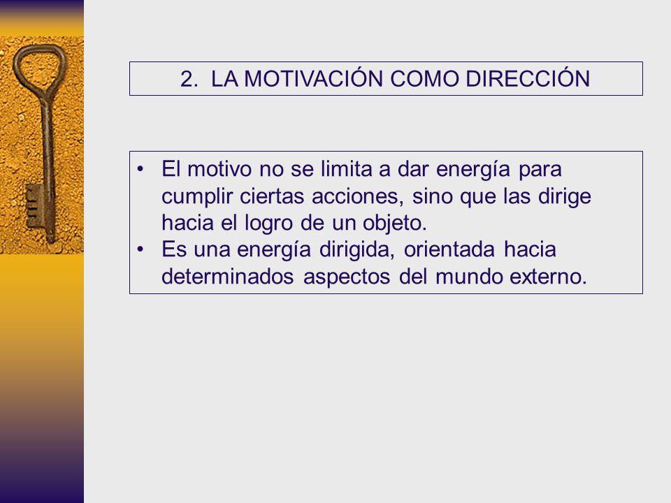 2. LA MOTIVACIÓN COMO DIRECCIÓN