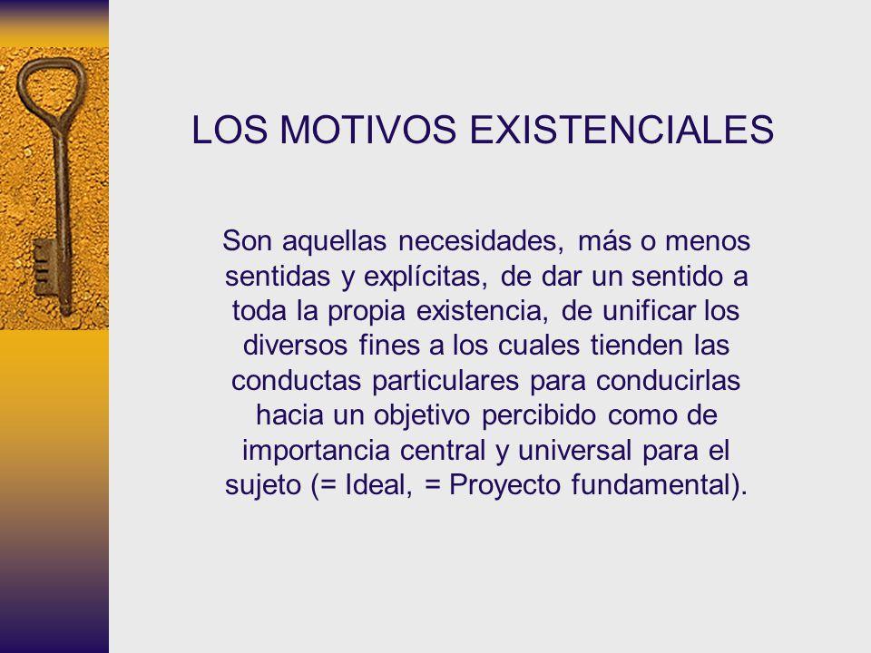 LOS MOTIVOS EXISTENCIALES