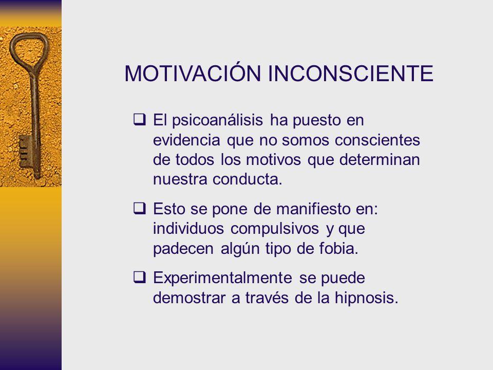MOTIVACIÓN INCONSCIENTE