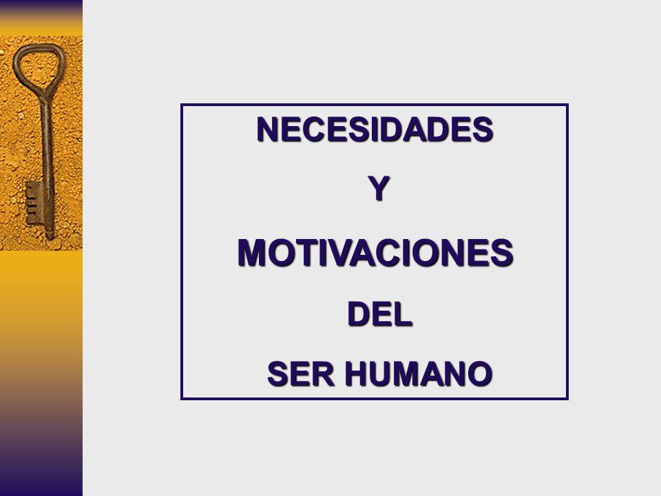 NECESIDADES Y MOTIVACIONES DEL SER HUMANO