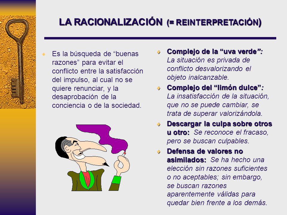 LA RACIONALIZACIÓN (= REINTERPRETACIÓN)