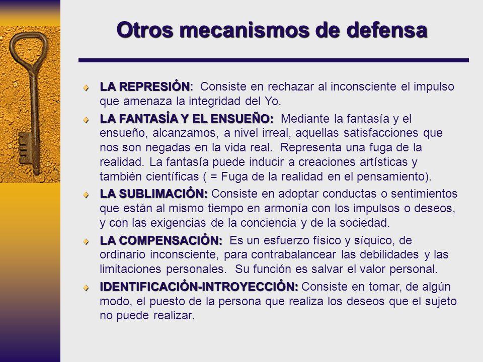 Otros mecanismos de defensa