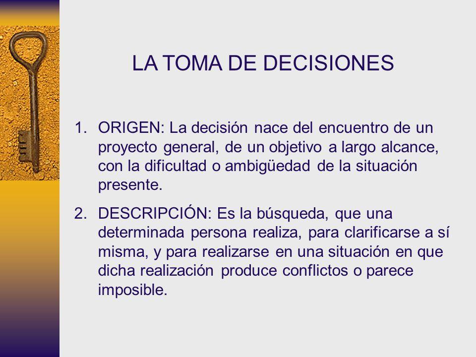 LA TOMA DE DECISIONES