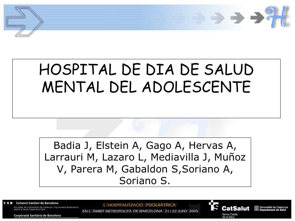HOSPITAL DE DIA DE SALUD MENTAL DEL ADOLESCENTE