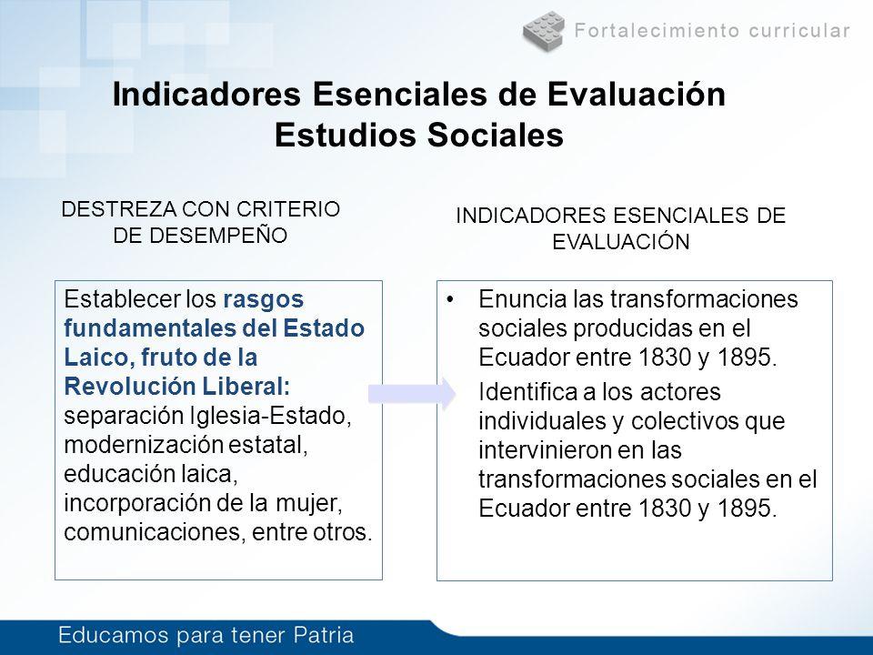 Indicadores Esenciales de Evaluación