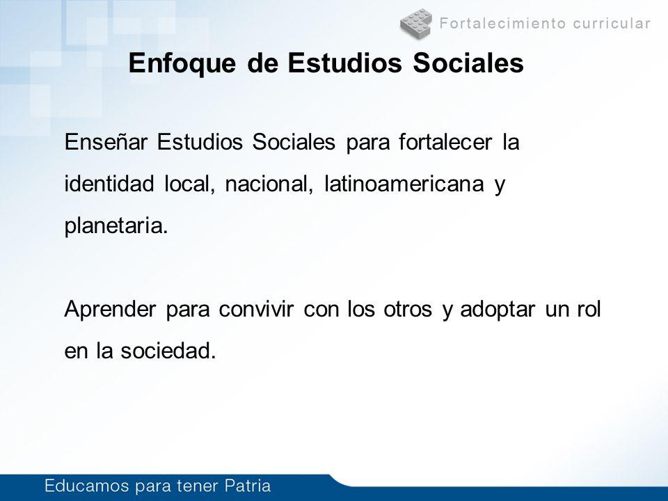 Enfoque de Estudios Sociales