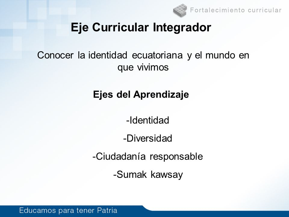 Eje Curricular Integrador