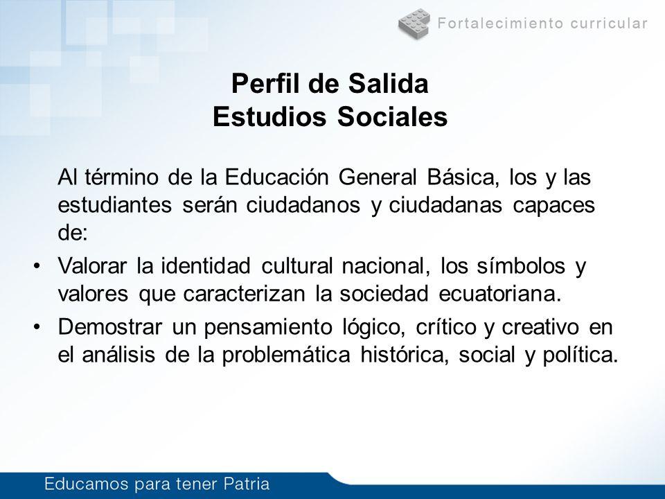 Perfil de Salida Estudios Sociales