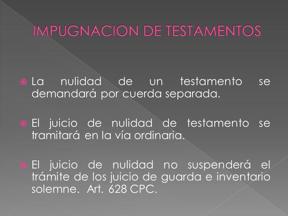 IMPUGNACION DE TESTAMENTOS