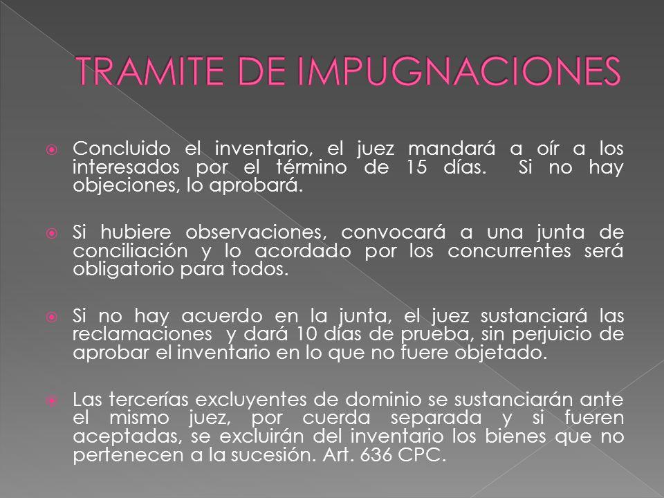 TRAMITE DE IMPUGNACIONES