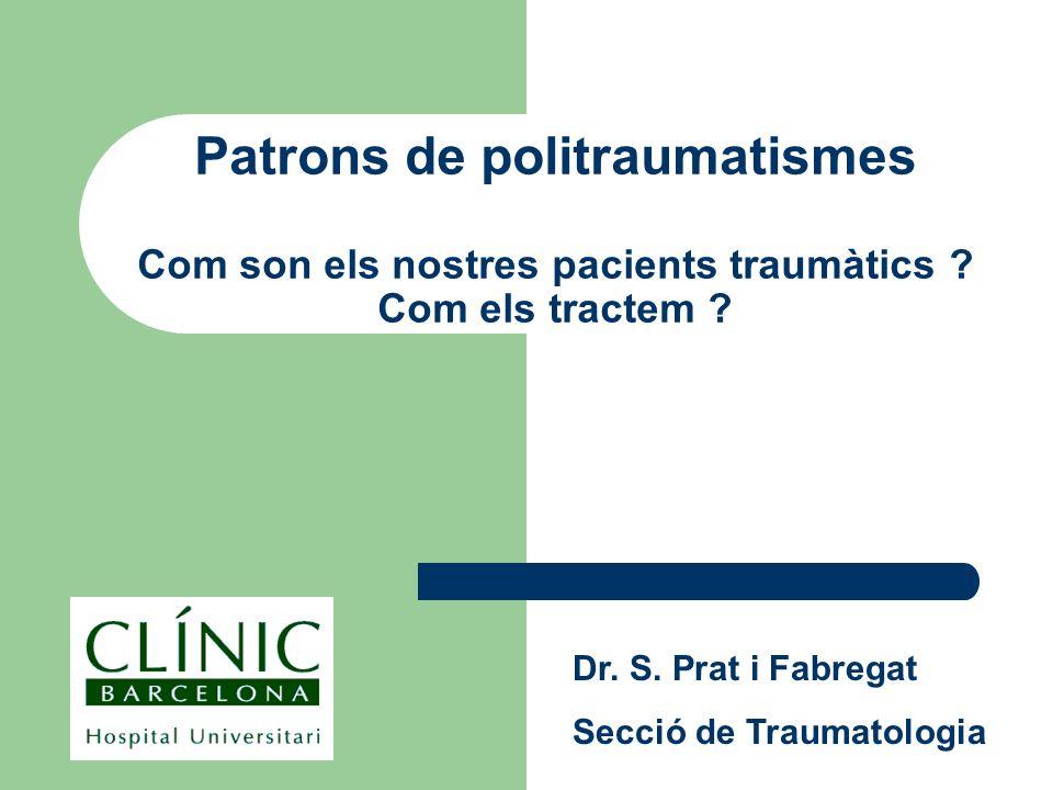 Patrons de politraumatismes Com son els nostres pacients traumàtics