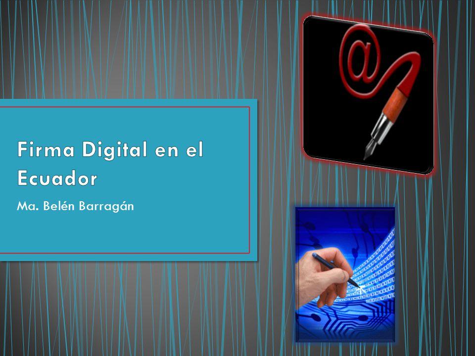 Firma Digital en el Ecuador