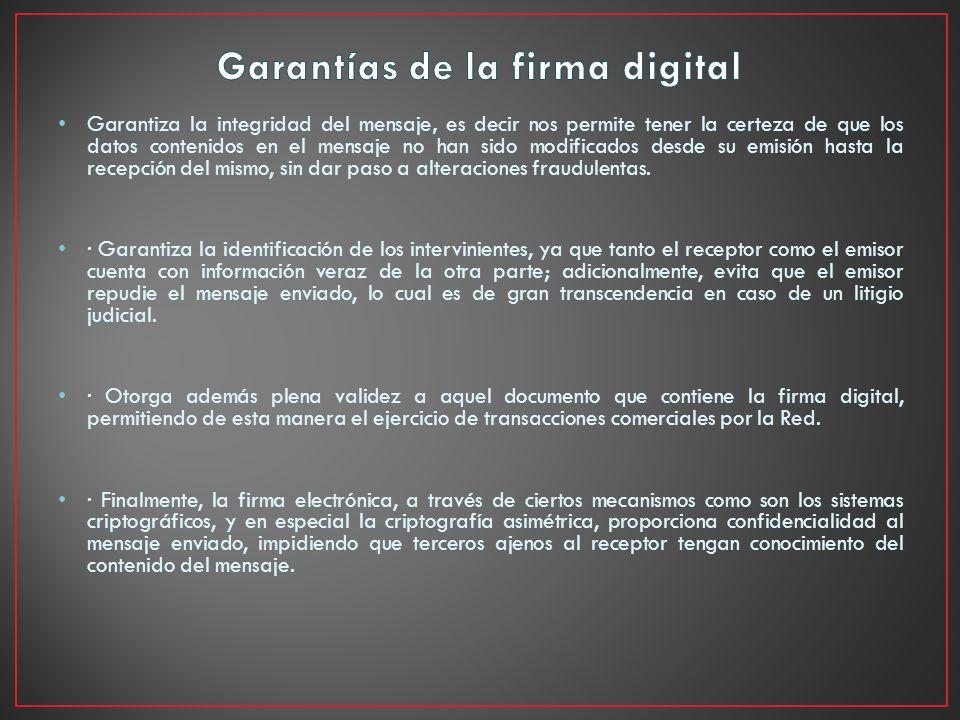 Garantías de la firma digital