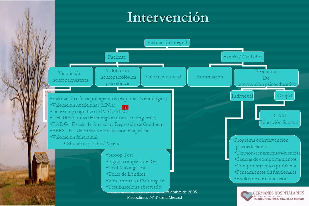 Intervención Presentación SAIHD. 29 de Noviembre de 2005. Psicoclínica Nª Sª de la Merced
