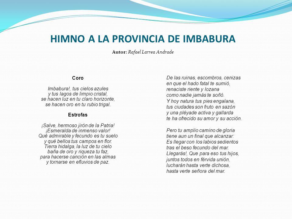 HIMNO A LA PROVINCIA DE IMBABURA