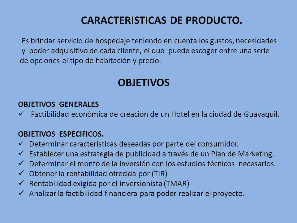 CARACTERISTICAS DE PRODUCTO.