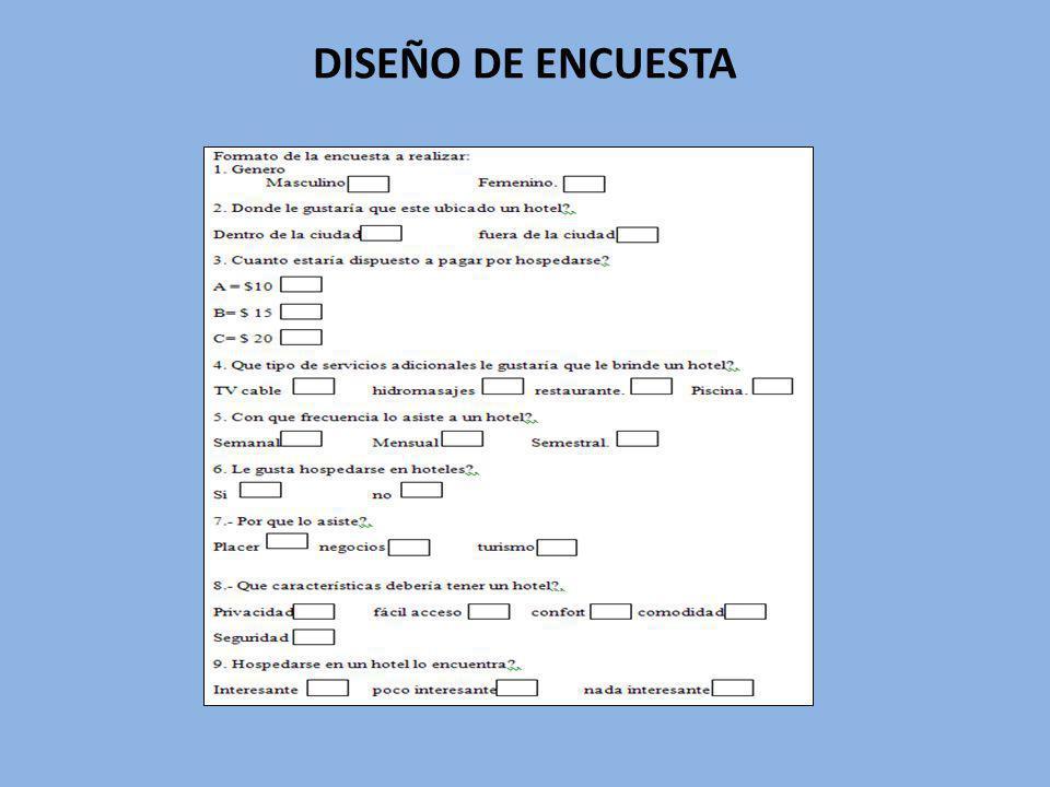 DISEÑO DE ENCUESTA