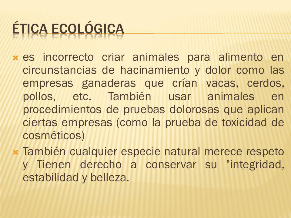Ética Ecológica