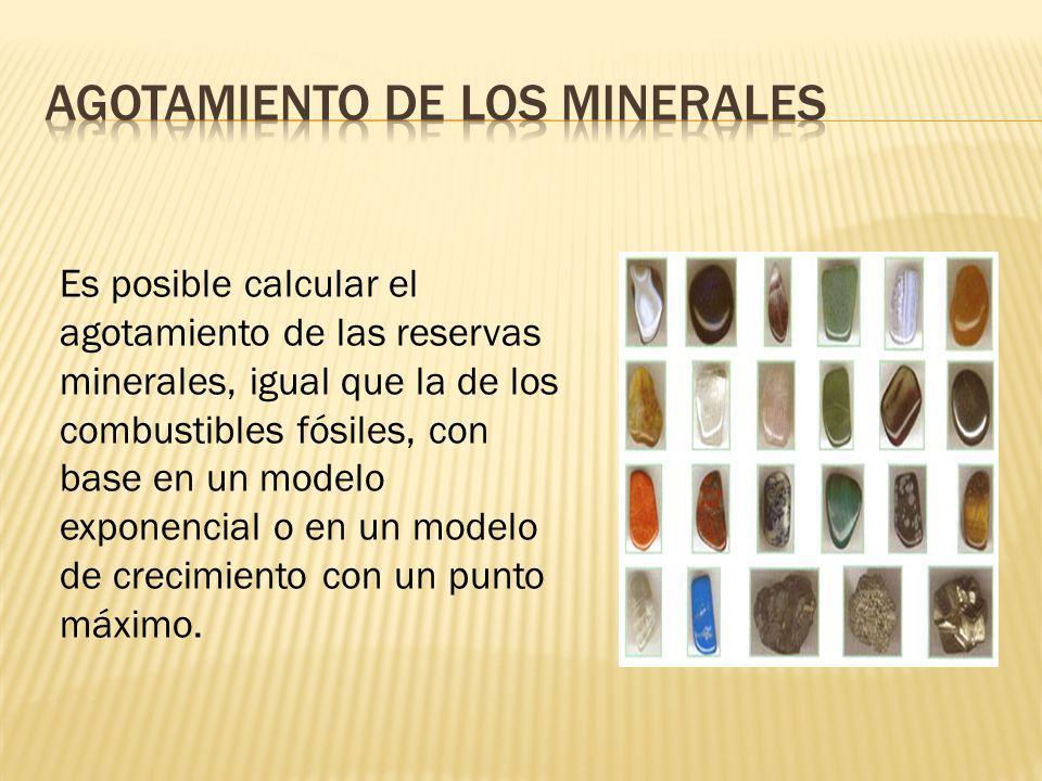 Agotamiento de los minerales