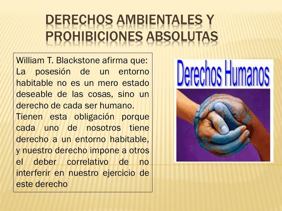 Derechos ambientales y prohibiciones absolutas