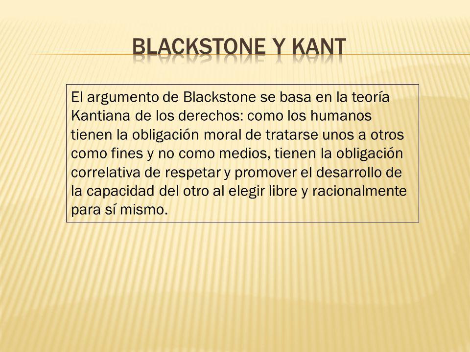 Blackstone y Kant