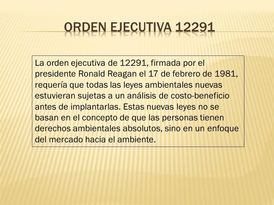 Orden ejecutiva 12291