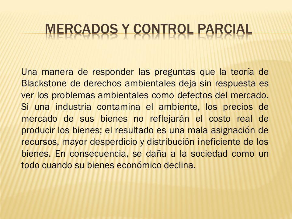 Mercados y control parcial