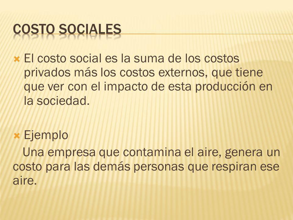 COSTO SOCIALES
