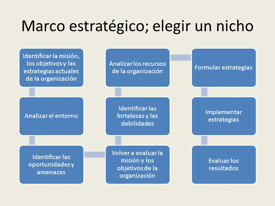 Marco estratégico; elegir un nicho
