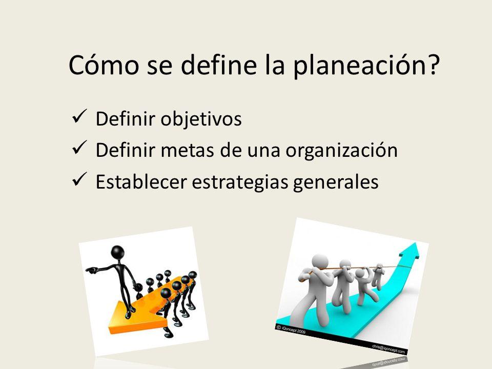 Cómo se define la planeación
