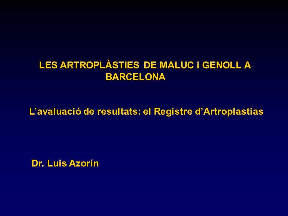 LES ARTROPLÀSTIES DE MALUC i GENOLL A BARCELONA