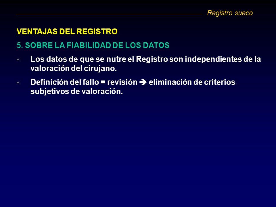 5. SOBRE LA FIABILIDAD DE LOS DATOS