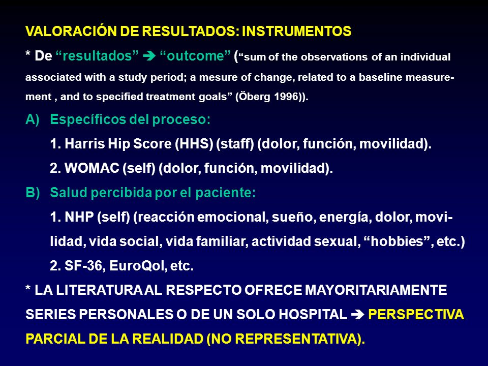 VALORACIÓN DE RESULTADOS: INSTRUMENTOS