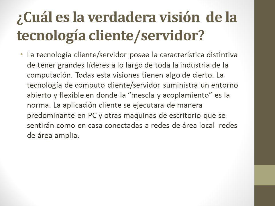 ¿Cuál es la verdadera visión de la tecnología cliente/servidor